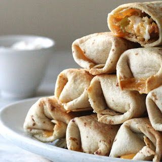 Crispy Baked Chicken Burritos