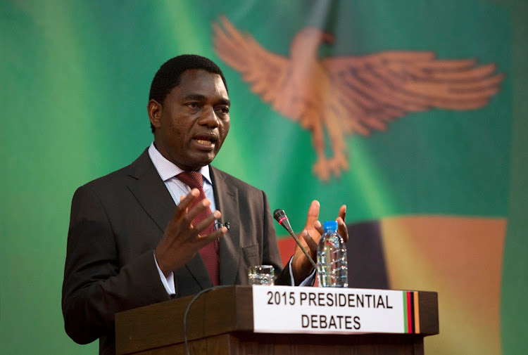 Hakainde Hichilema. Picture: REUTERS