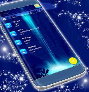 Neon Blue téma SMS - náhled