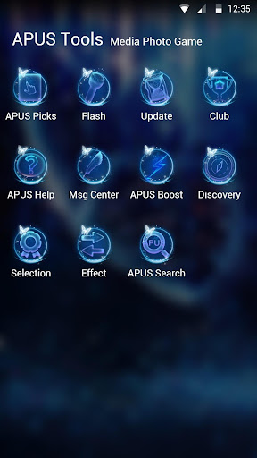 Blue Butterfly-APUS Launcher stylish theme - screenshot