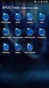 Blue Butterfly-APUS Launcher stylish theme
