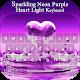 Sparkling Neon Purple Heart Light Keyboard Theme Download on Windows