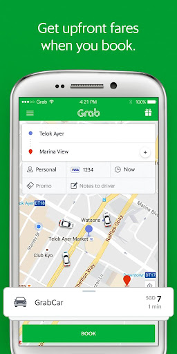Grab - Cars, Bikes & Taxi Booking App  screenshots 1