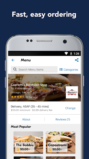 Screenshot for Eat24 Food Delivery & Takeout in United States Play Store