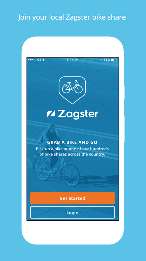 Zagster- screenshot