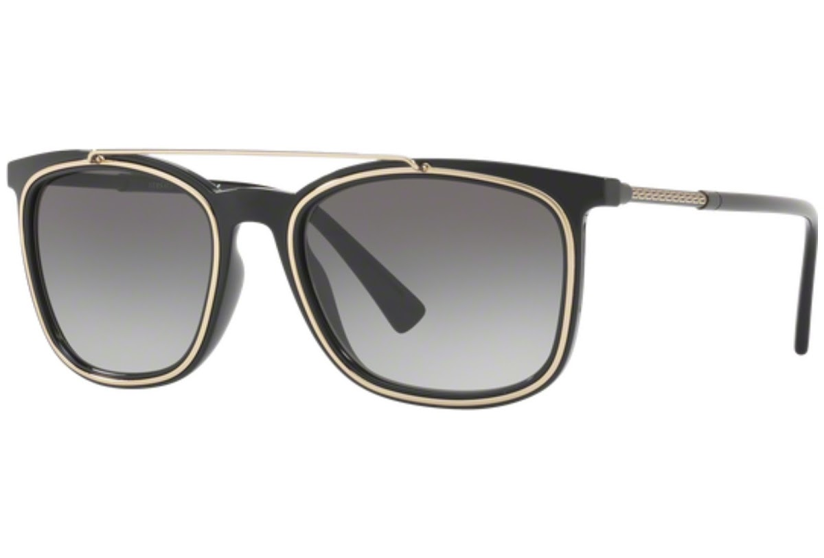 Versace VE4335 Sonnenbrille Schwarz GB1/11 56mm WqU1EOC64v