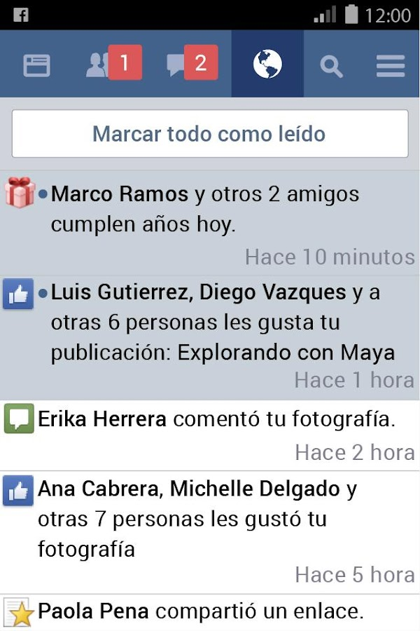 Facebook Lite: captura de pantalla