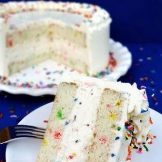 Funfetti Cake Batter Ice Cream Cake with Rainbow Chip Icing {Funfetti Week}