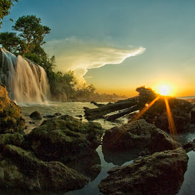 Sunset in Toroan by Saiful N. Firmansyah - Landscapes Sunsets & Sunrises ( water, waterfalls, waterscape, seascapes, waterfall, sea, stone, madura, seascape, waterscapes, landscape, toroan, aquascape, landscaper, sunset, sunsets, indonesia, east java, landscape photography, stones, landscapes,  )