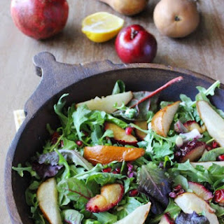 Roast Fruit and Arugula Salad