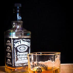 Cheers by Mircea Bogdan - Food & Drink Alcohol & Drinks ( jack, whiskey, drink, glass, bottle, daniels )