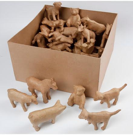 Pappfigurer djur 8-12cm 60/fp