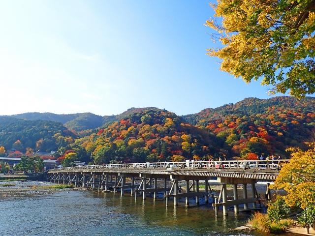 Togetsukyo bridge in Arashiyama.