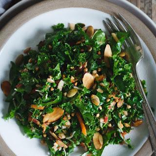 Kale Salad with Toasted Nuts, Seeds, & Buckwheat