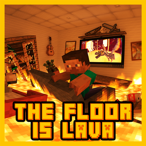 The Floor is Lava Map for MCPE