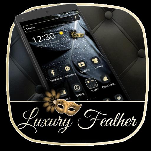 Luxury Black Feather Theme