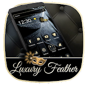 Luxury Black Feather Theme