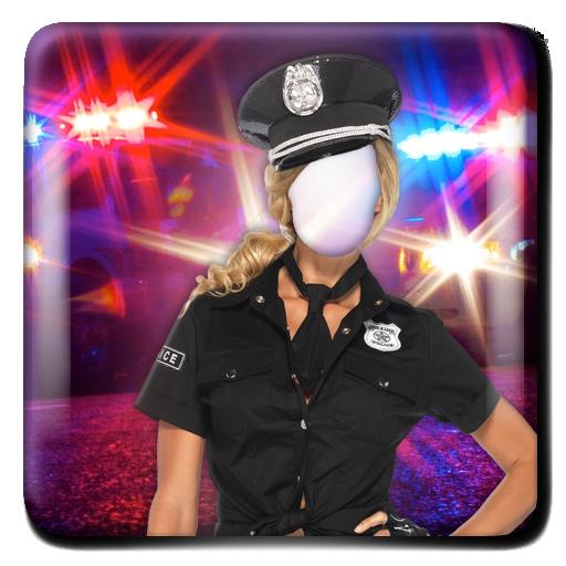女警套裝照片編輯器 攝影 LOGO-玩APPs