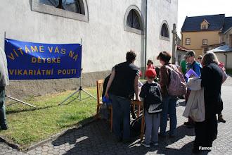Photo: Nová Bystřice, registrace poutníků Dětské vikariátní poutě