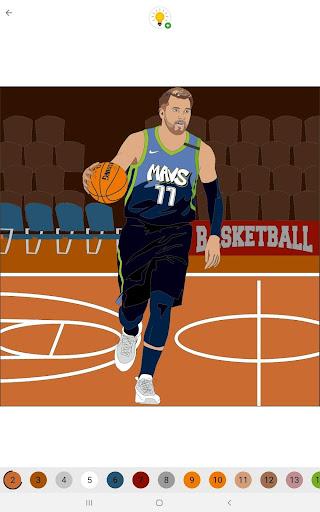 Coloring Basketball screenshot 8