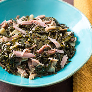 Smoked Turkey Braised Collard Greens Recipe