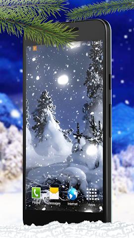 android Schnee Live-Hintergründe Screenshot 2
