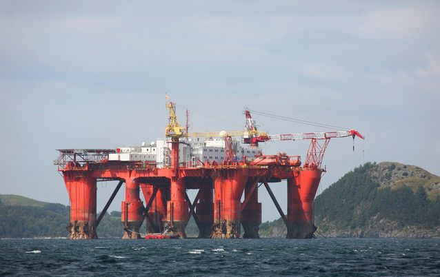 North Sea oil rig. Picture: ISTOCK