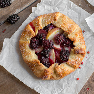 Blackberry Nectarine Galettes with Pink Peppercorn Crust