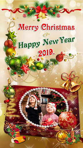 Christmas Photo Frames 2019 ud83cudf84 New Year Pic Editor 1.1 screenshots 1
