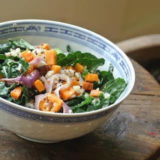 Warm Sweet Potato, Kale, and Quinoa Salad.