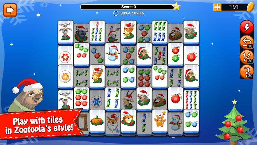 Mahjong Christmas.Mahjong Zootopia Christmas