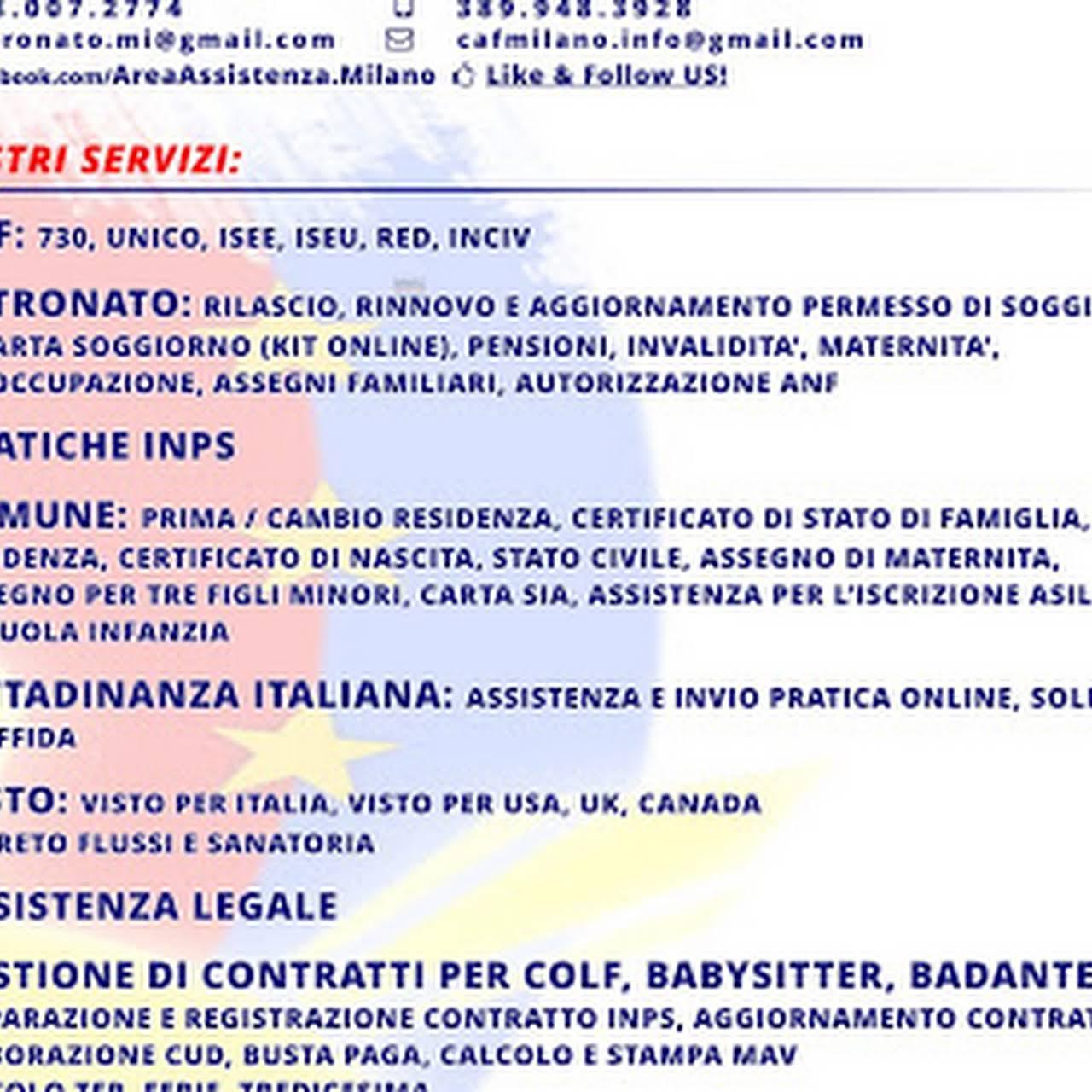 DOMINA - Area Assistenza Milano - CAF - PATRONATO - GESTIONE COLF