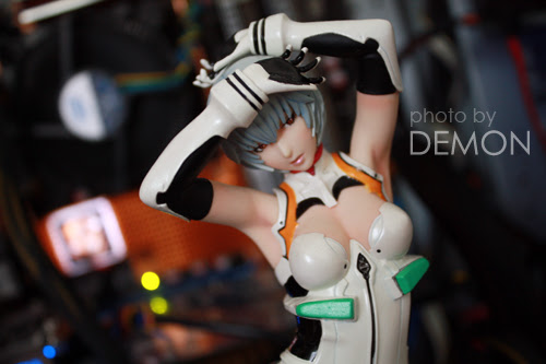 Rei Ayanami inside the system unit