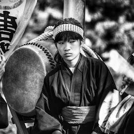 Tokyo Street Festival by Rick Pelletier - Black & White Portraits & People