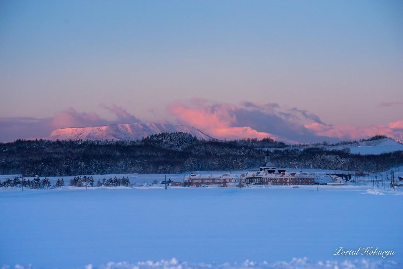 北竜町の冬景色・早朝