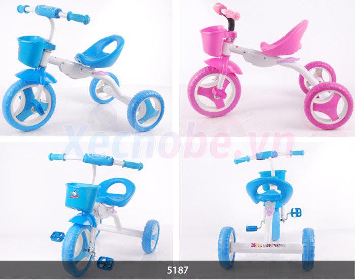 xe đạp ba bánh cho bé có giỏ đựng đồ