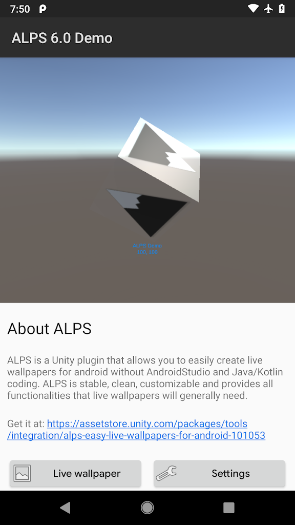 ALPS 6.3 Unity Live Wallpaper Plugin Demo 6.3 Apk Download ...