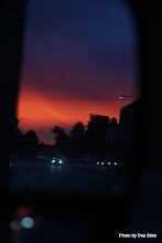 Photo: (Year 3) Day 30 -  Sunset Via the Van Mirror #2