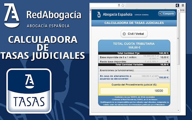 Calculadora de Tasas Judiciales