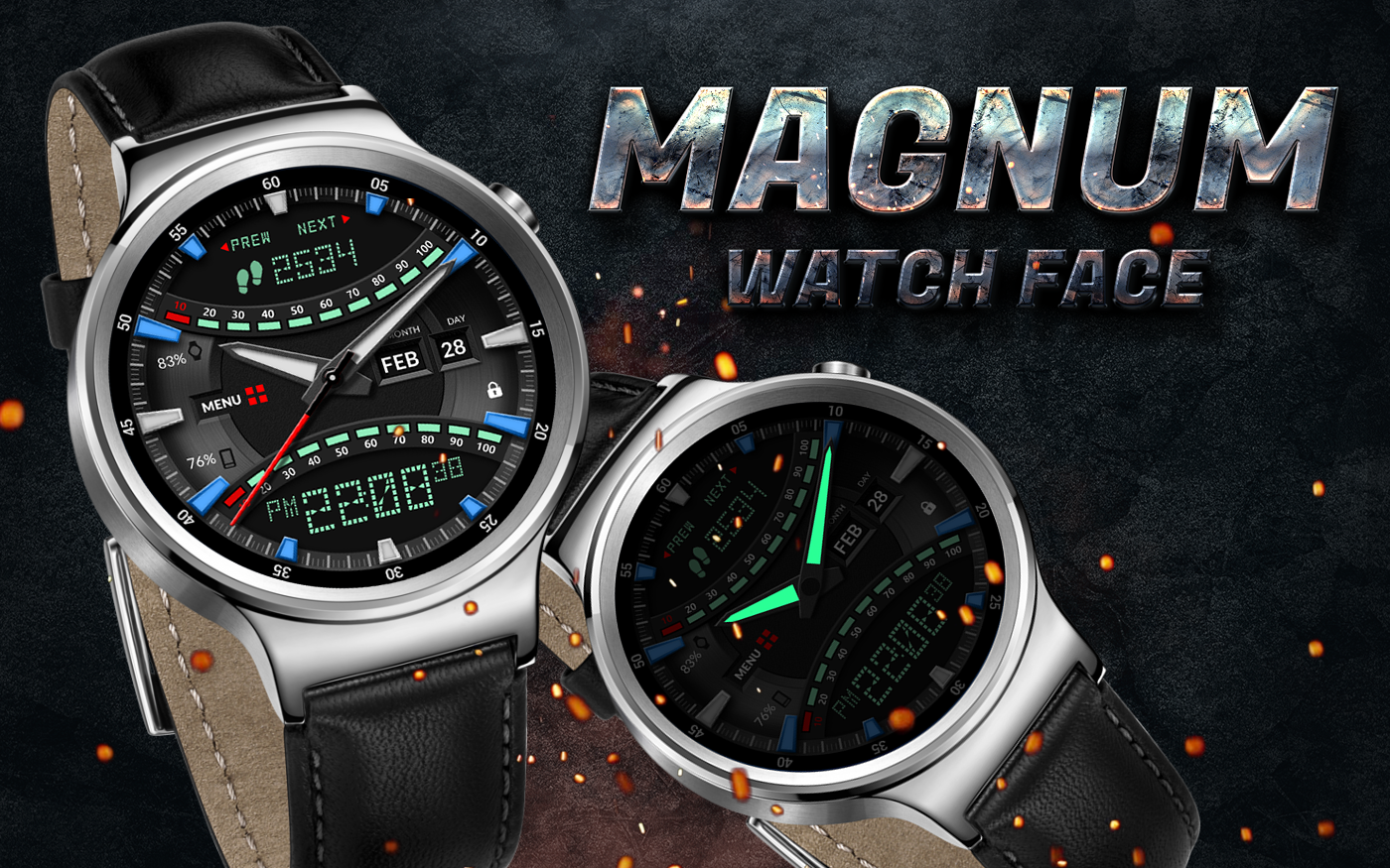 Magnum Watch Face- screenshot