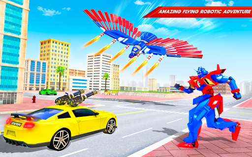 Flying Police Eagle Bike Robot Hero: Robot Games 29 screenshots 7