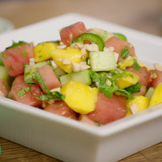 Cucumber Basil and Watermelon Salad Recipe