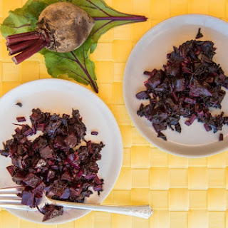 Roasted Beets with Sauteed Beet Greens Recipe