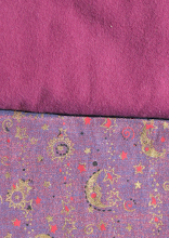 Photo: 100% cotton flannel in wine with Moon of India