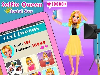 Selfie Queen Social Superstar: Girls Beauty Games - náhled