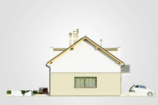 Double House III - Elewacja lewa