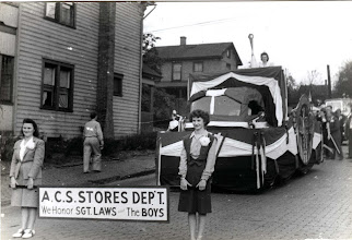 "Photo: Altoona Car Shop - PRR - Stores Dept float ""We Honor Sgt. Laws & The Boys"""