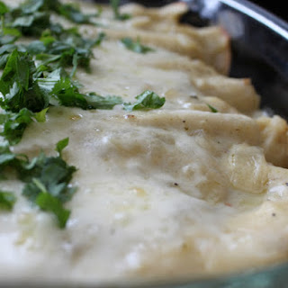 Cream Cheese and Chicken Enchiladas.
