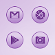 Bubble Gum Violet Icons APK