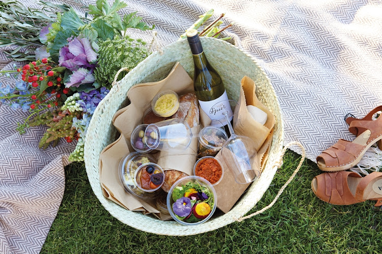 A Spier Farm Kitchen picnic basket.